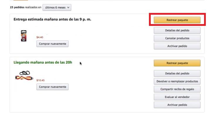 ¿Cómo rastreo un paquete de envío de Amazon México?