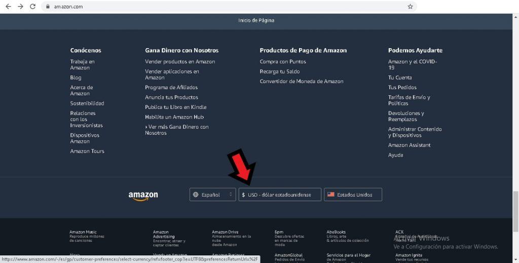 ¿Cómo cambiar la moneda en Amazon México?