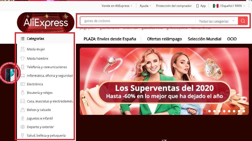 Buscar productos en AliExpress