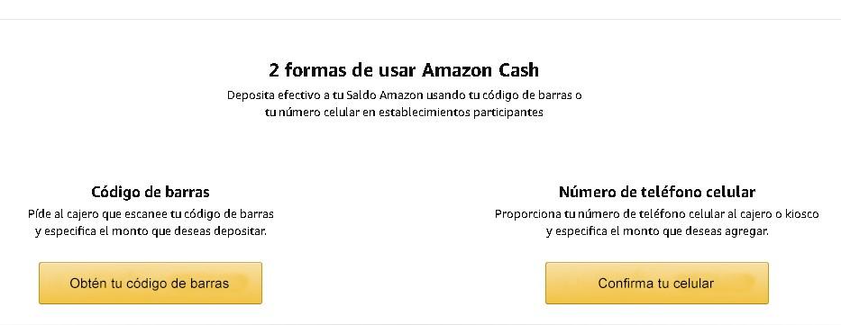 Cómo recargar Amazon Cash