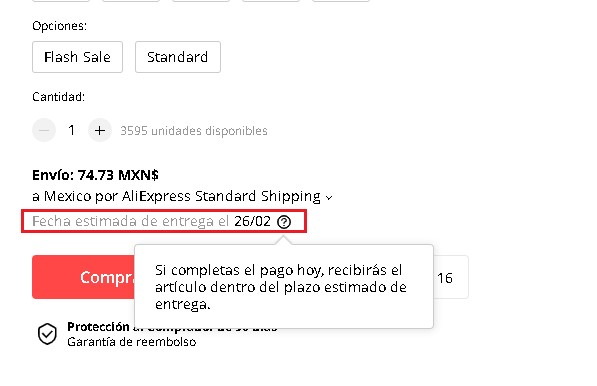 ¿Cuánto tarda en llegar un paquete de AliExpress a México?