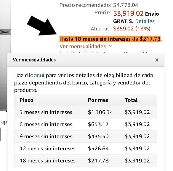Cómo comprar a meses sin intereses en Amazon