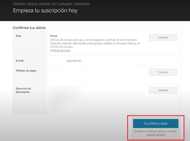 Contratar Amazon Prime Video