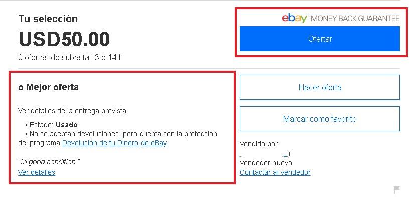 cómo funcionan las subastas en eBay