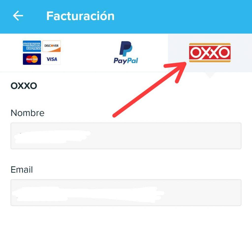 Pagar Wish con Oxxo