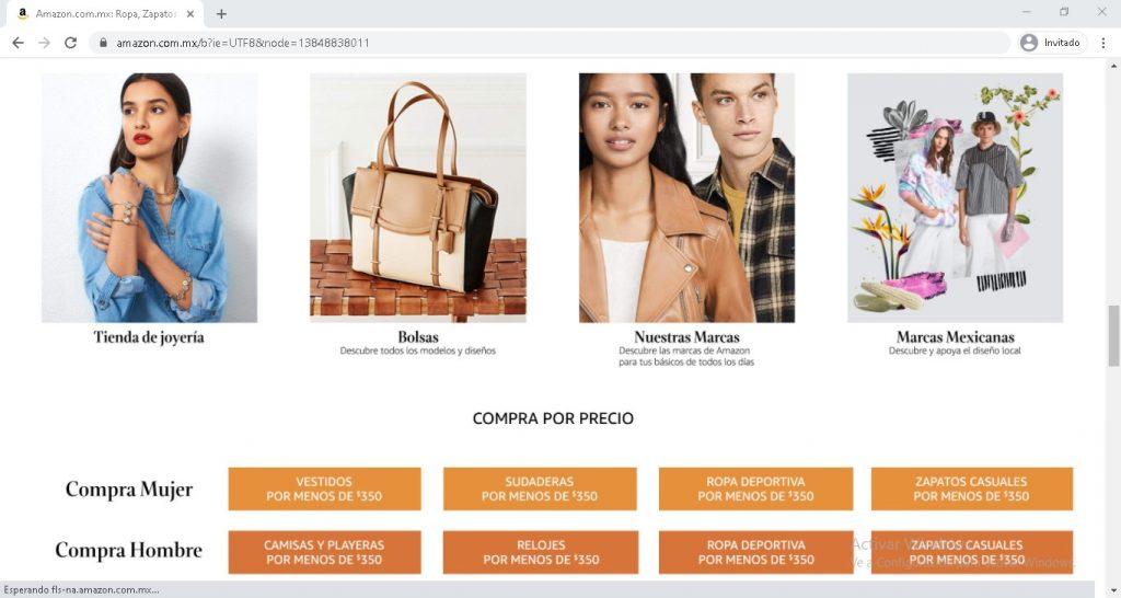 Alternativas a Shein: Amazon México