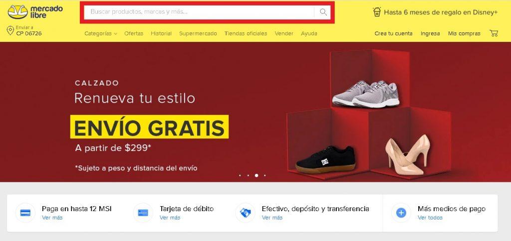 Buscar los mejores productos en Mercado Libre México
