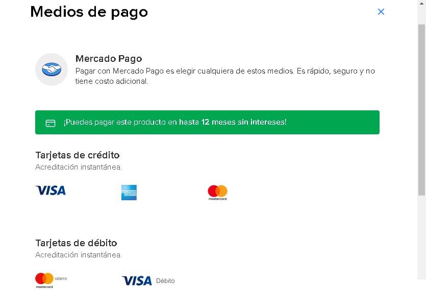 Medios de pago en Mercado Libre México