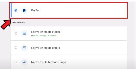 PayPal como método de Pago en Mercado Libre México.