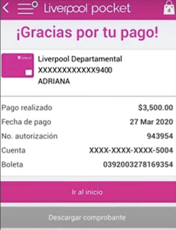 pagar tarjeta liverpool app